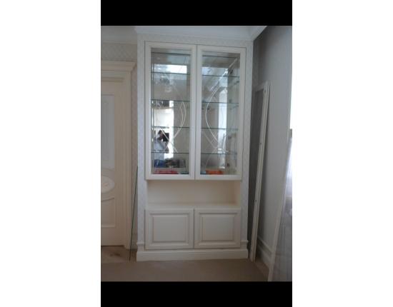 Шкаф встроенный из массива ясеня